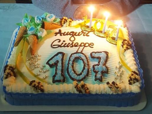 Immagine articolo: Partanna, nonno Giuseppe Lo Cicero da record. Festeggiati i 107 anni
