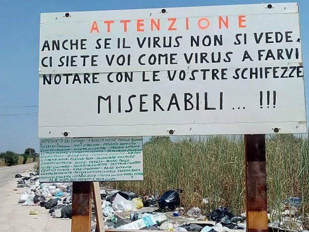 Immagine articolo: Triscina, cittadini protestano contro discarica abusiva. Affisso cartello provocatorio