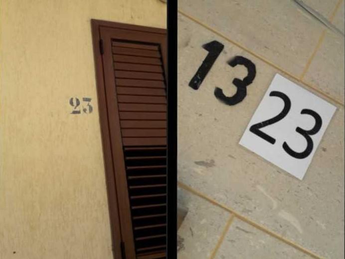 """Immagine articolo: Il lettore scrive: """"A distanza di un anno numeri civici via delle Tamerici ancora sbagliati. Comune intervenga"""""""