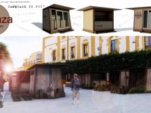 """Immagine articolo: """"Il mio Sistema delle Piazze è questo"""". E """"spuntano"""" i chioschi in legno. Tu che ne pensi?"""
