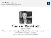 """Immagine articolo: Anche Francesco Facchinetti """"segue"""" Castelvetranonews.it. L'ex Capitano Uncino tra i follower"""